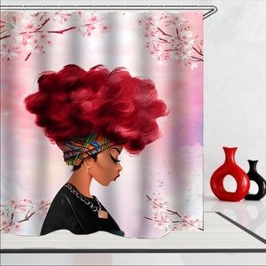 GORG Digital Printing African Girl Shower Curtain